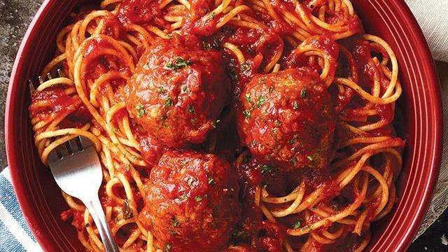 Carrabba's Spaghetti and Meatballs