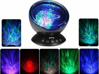 Remote Control Ocean Wave Projector with Music Player
