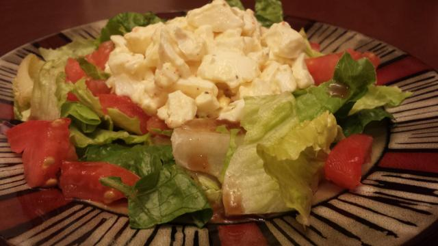 Egg salad on salad