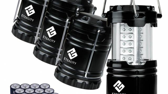 Etekcity 4 Pack Portable Outdoor LED Camping Lantern Set