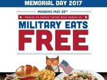 Hooters Memorial Day Free Meal Offer