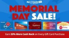 IMAGE: MyGiftCardsPlus Memorial Day Sale