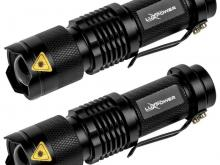 LuxPower Tactical LED Flashlight 2 pack