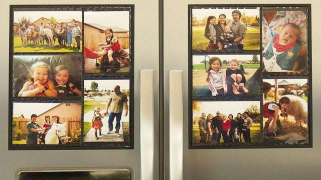 Magnetic Picture Collage Frame for Refrigerator
