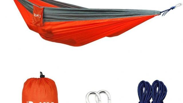 Raku Portable Lightweight Nylon Hammock