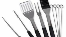 IMAGE: Stainless Steel Grilling Tool Set 70% off