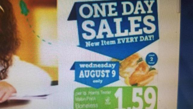 Harris Teeter 1-Day Sales in Wilson