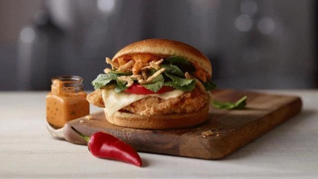 McDonald's Sriracha Mac Sauce sandwich