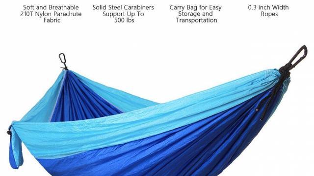 Shine Hai Lightweight Portable Nylon Parachute Hammock