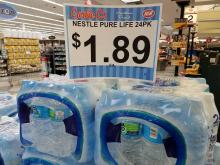 Carlie C's Nestle Pure Life bottled water sale