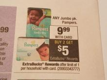 Pampers sale at CVS 8/13/17