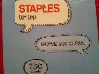 Staples copy paper
