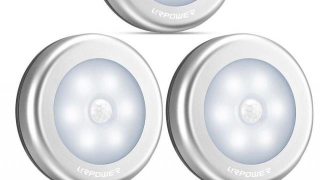 Motion-Sensing Battery Powered LED Stick-Anywhere Nightlight