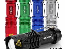 Cree Zoomable Mini Flashlights 5 Pack Set