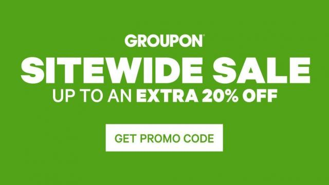 Groupon 20% off Sale