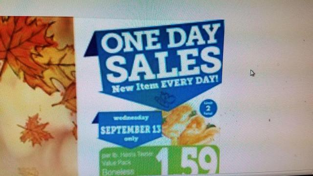 Harris Teeter 1-Day Sale