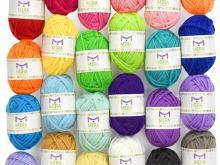 Premium Yarn Pack with 24 Acrylic Yarn Skeins
