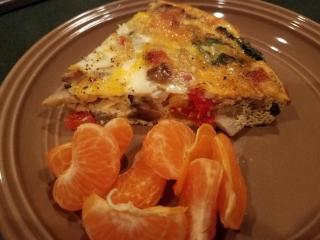Veggie Quiche with Mandarin Orange Slices