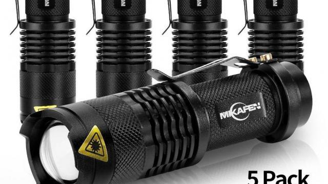 Cree LED Adjustable Focus Flashlight 5 Pack Set