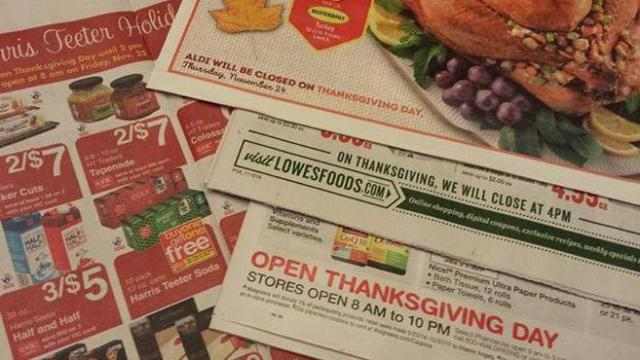Grocery Store Thanksgiving Hours 2016