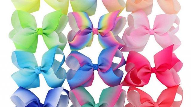 Grosgrain Girls Boutique Hair Bows With Alligator Clips 15 piece
