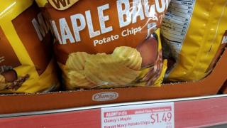 Aldi's Clancy's Maple Bacon Chips