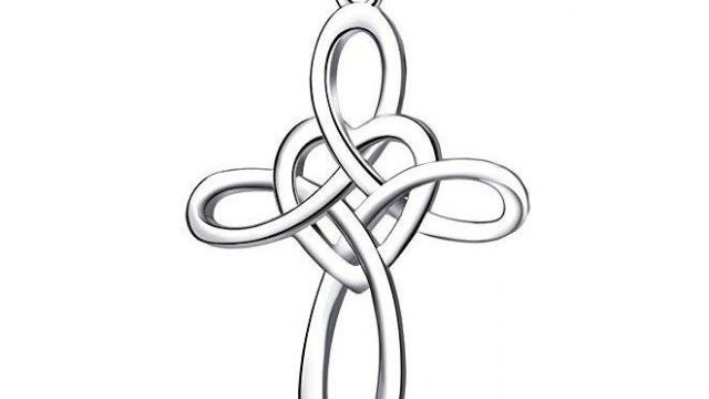 Sterling Silver Heart Celtic Knot Cross Necklace 84 Off Wral