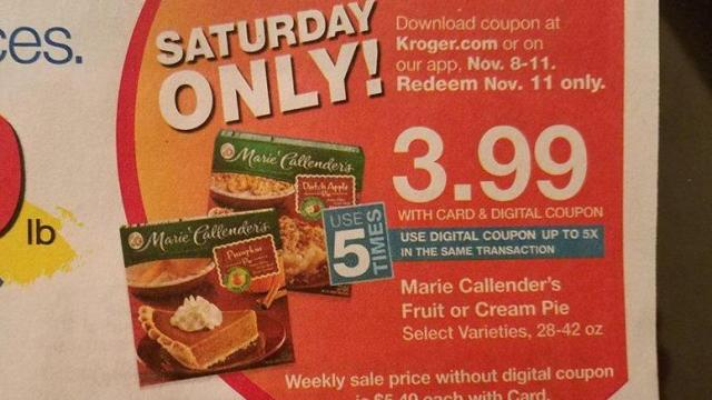 graphic about Marie Callender Coupons Printable known as Kroger Saay basically package deal: Marie Callendars pie ::