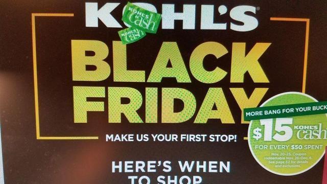 Kohl's Black Friday 2017