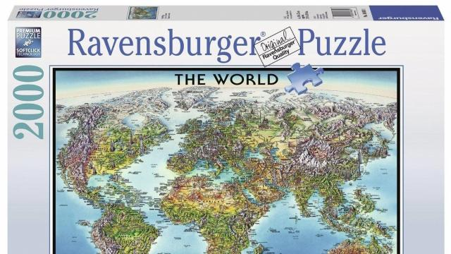 Ravensburger puzzles games up to 60 off wral ravensburger world map jigsaw puzzle gumiabroncs Image collections