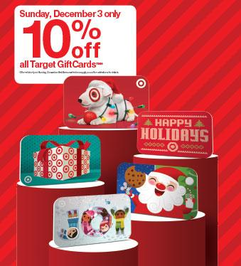 Target Gift Cards 10% off Sunday, 12/3 :: WRAL.com