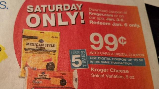 Kroger Cheese only 99 cents TODAY! :: WRAL com