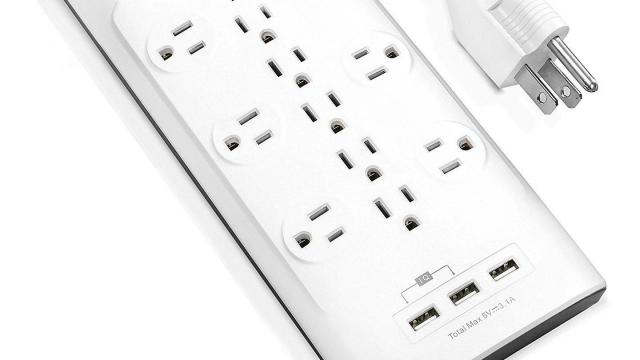 Power Strip with 3 AC Outlets and 3 USB Charging Ports