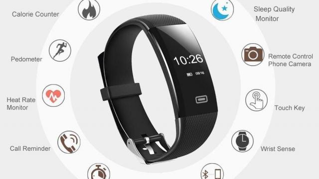 Fitness Tracker Heart Rate Monitor Watch