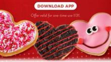 IMAGE: FREE Krispy Kreme Valentine's doughnut Wednesday 1/31 for Reward Members!