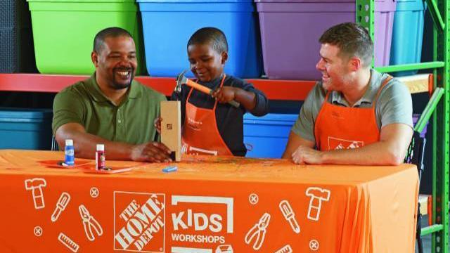home depot kids workshop courtesy homedepotcom - Free Images Of Kids