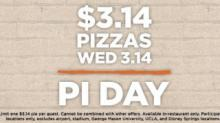 IMAGE: Pi Day Deals Wednesday, March 14