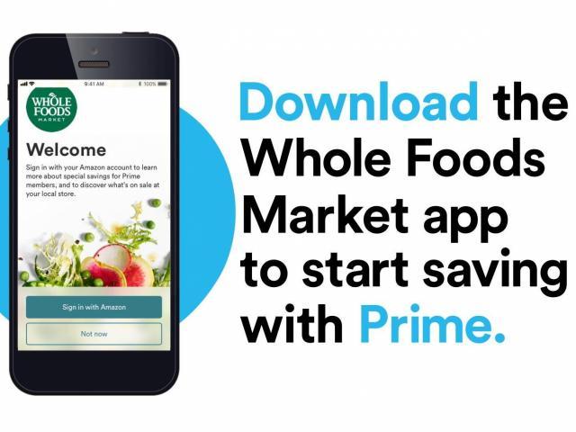 amazon prime whole foods app