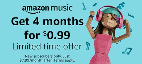 Amazon Music Unlimited Only 99 Cents For 4 Months Wralcom
