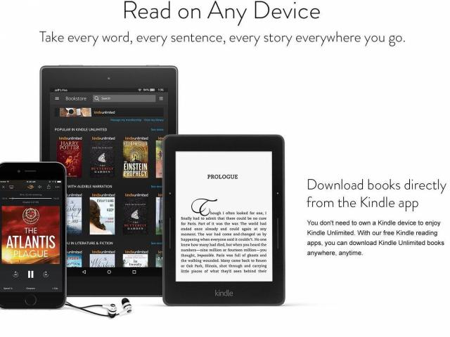 Kindle Unlimited Service (photo courtesy Amazon)