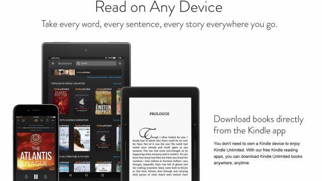 Kindle Unlimited Service (photo courtesy Amazon)