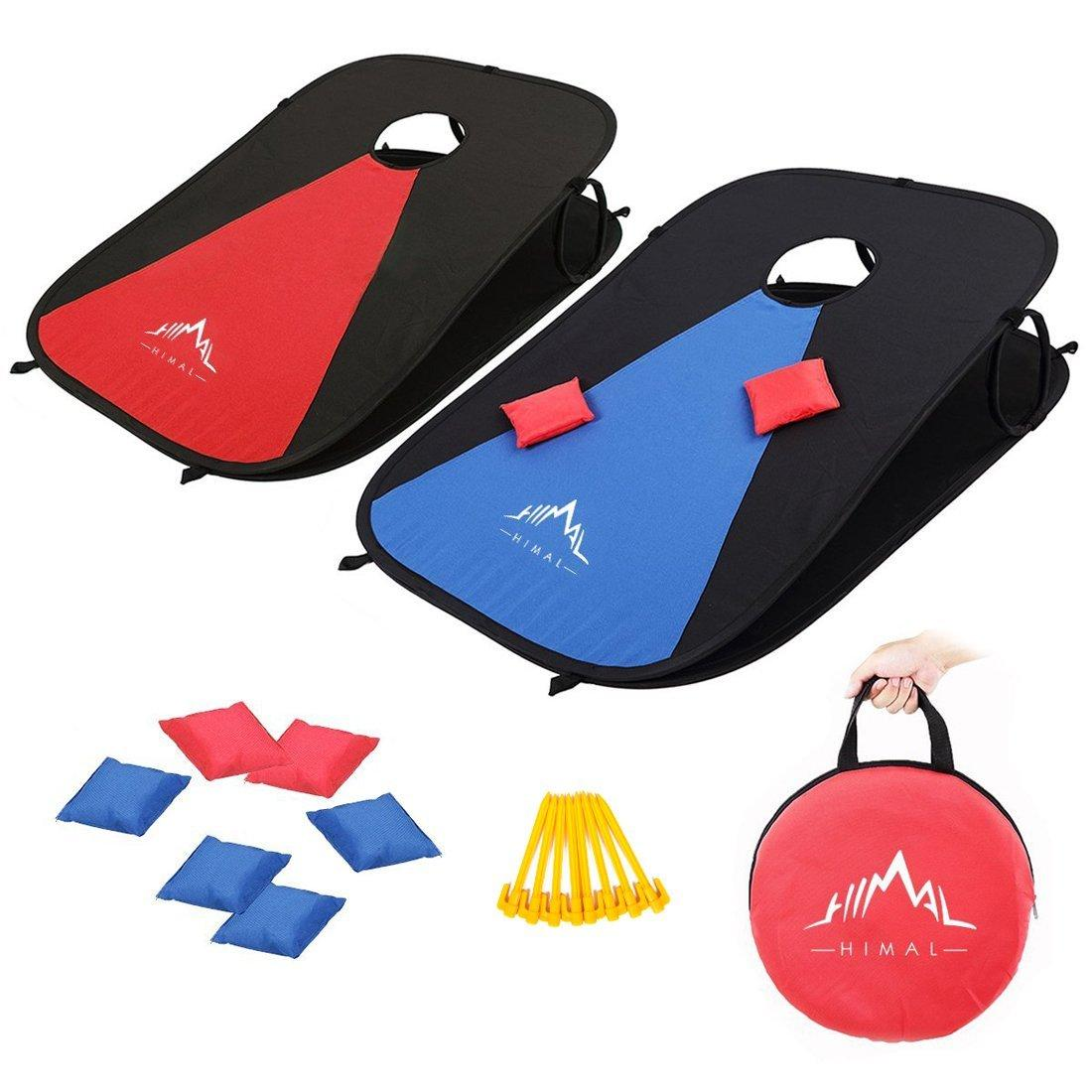 Portable Corn Hole Game Boards Set With 8 Bean Bags Only $26.93 :: WRAL.com