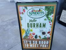 Sprouts Durham Sign