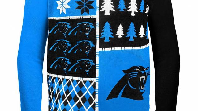 promo code edee1 95b20 Still available: Carolina Panthers holiday sweater as low as ...