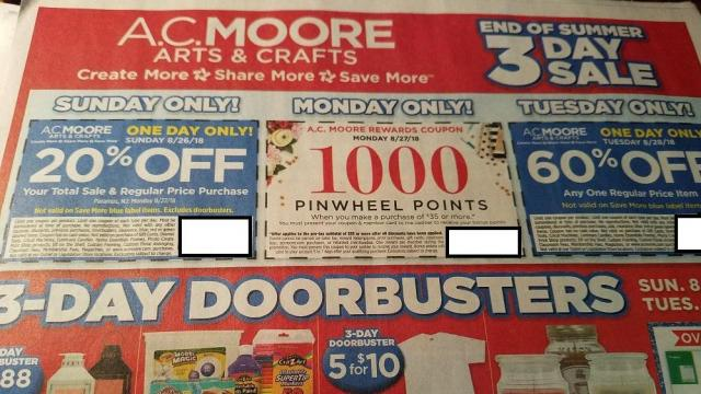 photograph regarding Ac Moore Printable Coupon identify A.C. Moore: 60% off coupon legitimate These days, 8/28 ::