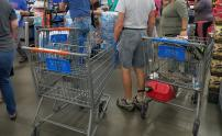 IMAGES: Bottled water going fast as hurricane nears NC