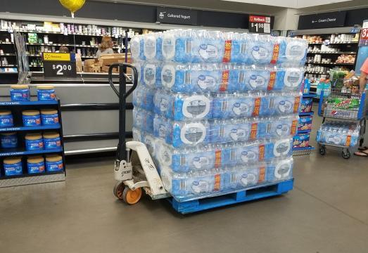 Full pallet of bottled water 9-9-18