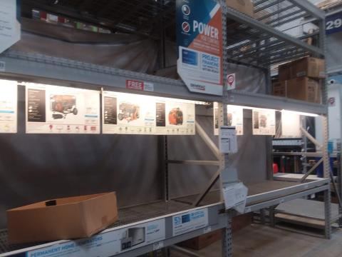 Generators selling out at local home improvement store
