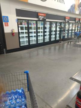 Empty milk shelves 9-9-18