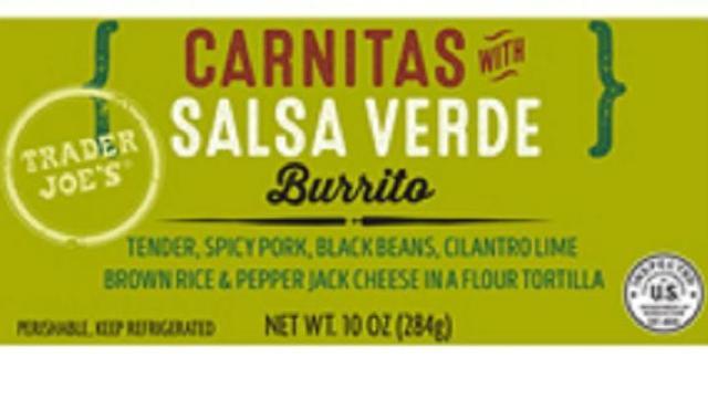 photo regarding Trader Joe's Printable Coupons named Keep in mind: Investor Joes Carnitas with Salsa Verde Burritos